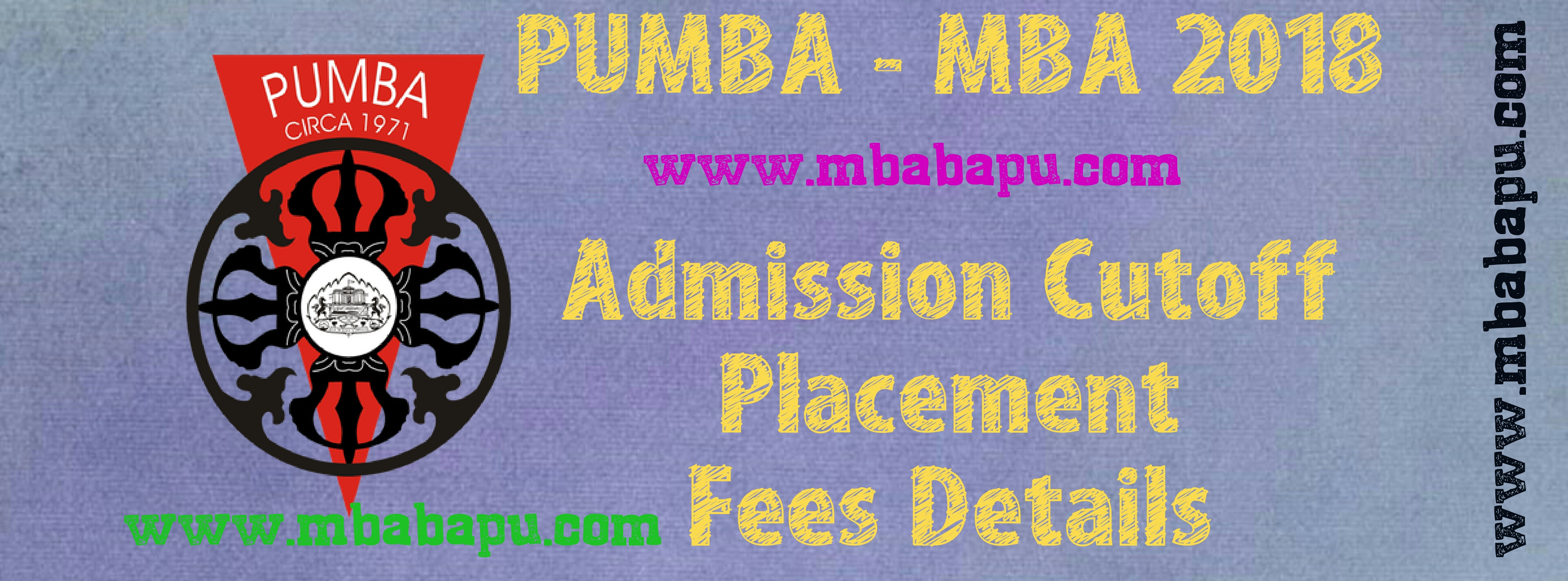 MBA at PUMBA - PUMBA admission cutoff, Placements, Fees details